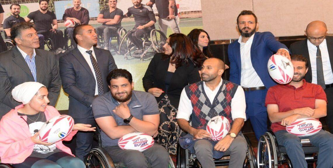 The first rugby team in Egypt 1140x575 - تدشين أول فريق رجبي للكراسي المتحركه في مصر