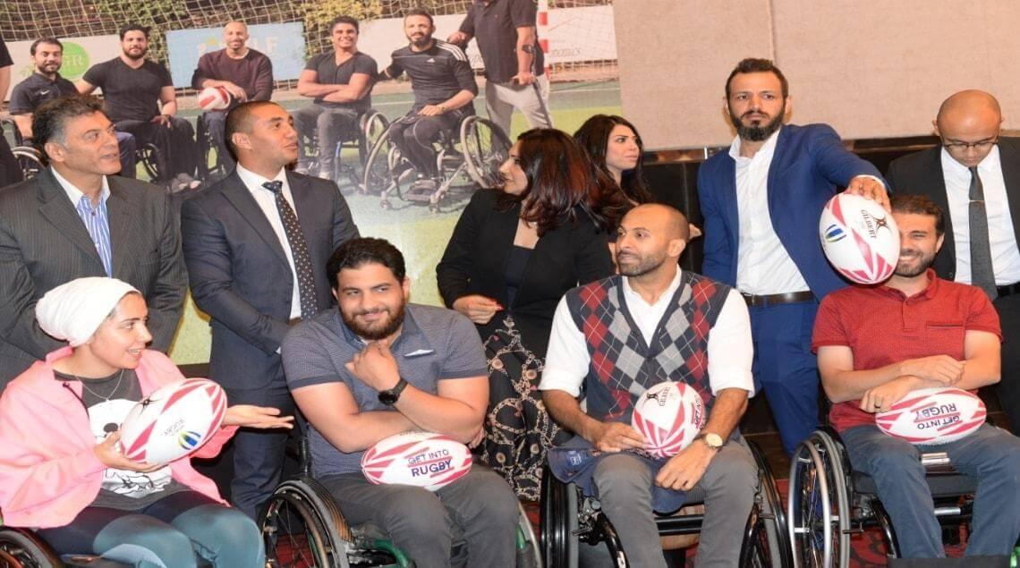 The first rugby team in Egypt - تدشين أول فريق رجبي للكراسي المتحركه في مصر