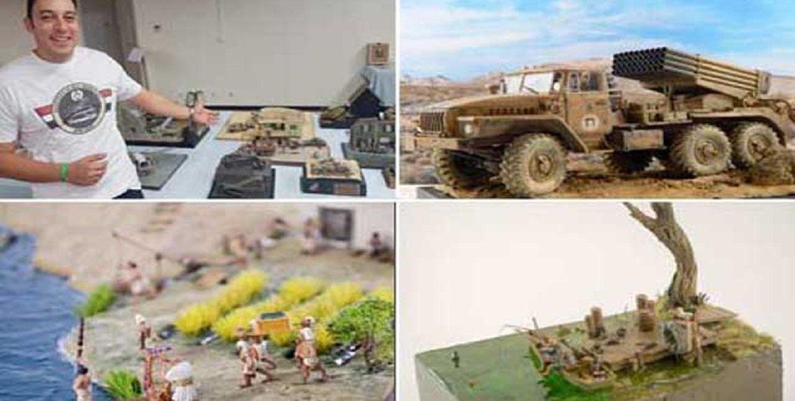 """19 2020 637174704353170891 317 1140x575 - """"حسين القيسي"""" يروي قصة شغفه بصناعة النماذج الفنية المصغرة"""