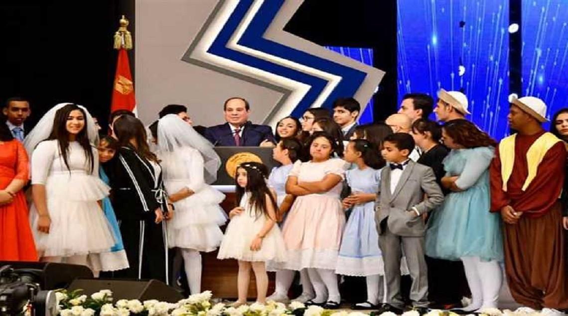 """يشهد احتفالية قادرون باختلاف لذوي القدرات الخاصة - كورال لذوي القدرات الخاصة يغنون """"أنا ابن مصر """"خلال الاحتفال باليوم العالمي للإعاقة"""