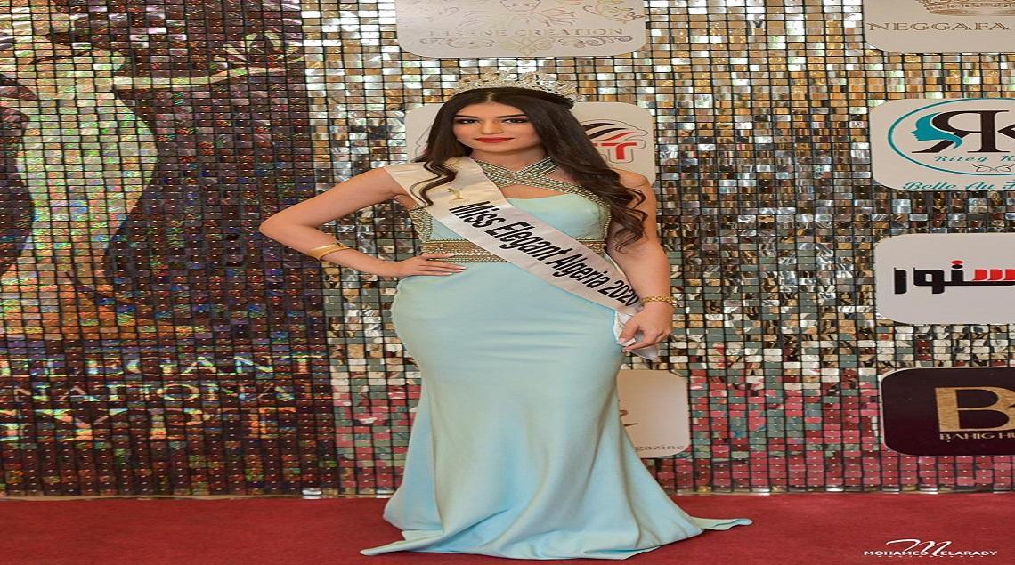 2 - وفاء عريبي تفوز بمسابقة ملكهً الأناقة الجزائرية لعام 2020