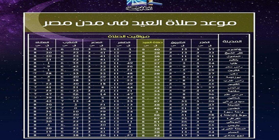 116269749 287544929146577 6376755259388789275 n 1140x575 - تعرف علي موعد صلاة عيد الأضحى فى القاهرة و المحافظات