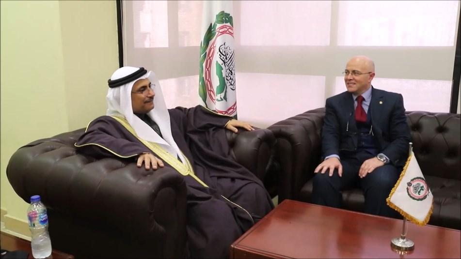 البرلمان العربي يستقبل سفير المملكة المغربية لدى جمهورية مصر العربية - رئيس البرلمان العربي يستقبل سفير المملكة المغربية لدى جمهورية مصر العربية