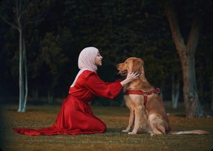 "149374274 121246959910524 8854782245207549256 n - ""أحن صديق علي"".. فتاة تحتفل بالفلانتين مع كلبها بفوتوسيشن مختلف"