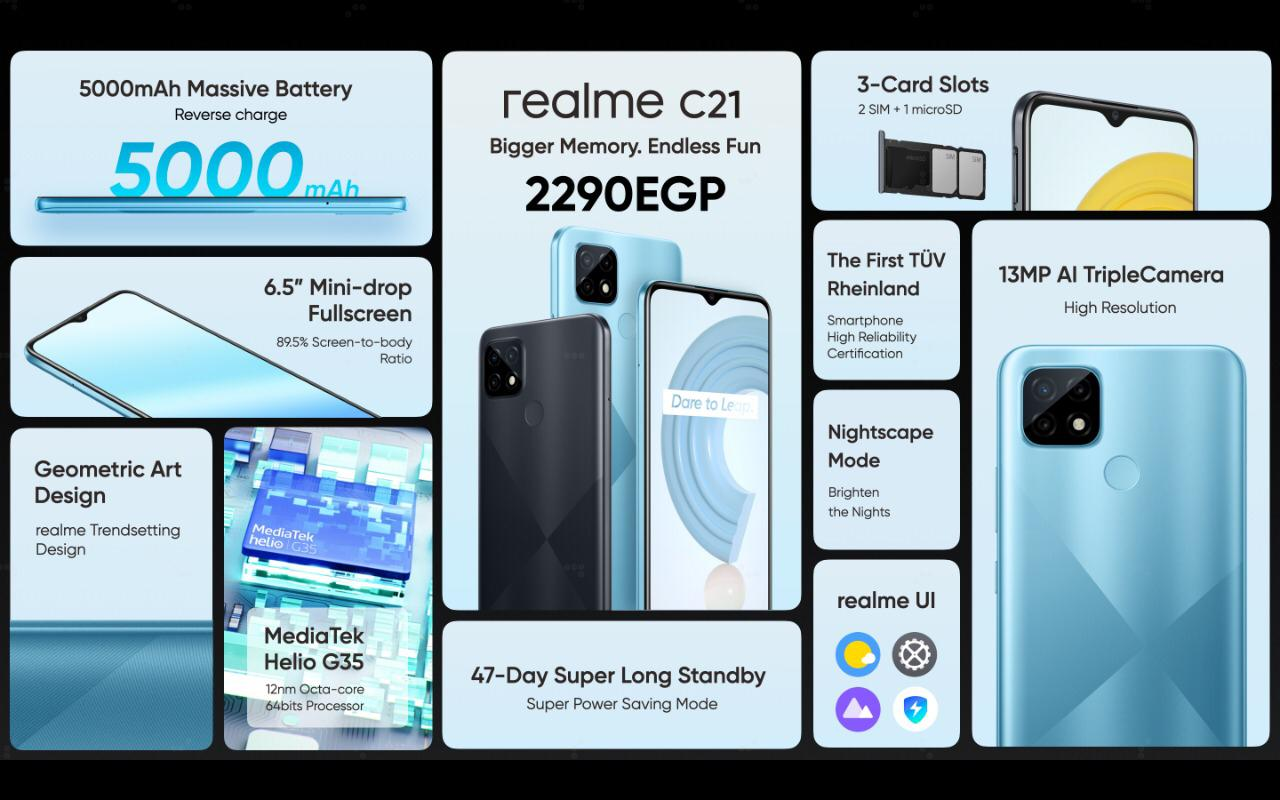 a848cfd2 6034 413d aebb 8bc81d0e9c07 - realme تطلق هاتف جديد C21.. وسماعتين بقدرات عالية لمنع الضوضاء