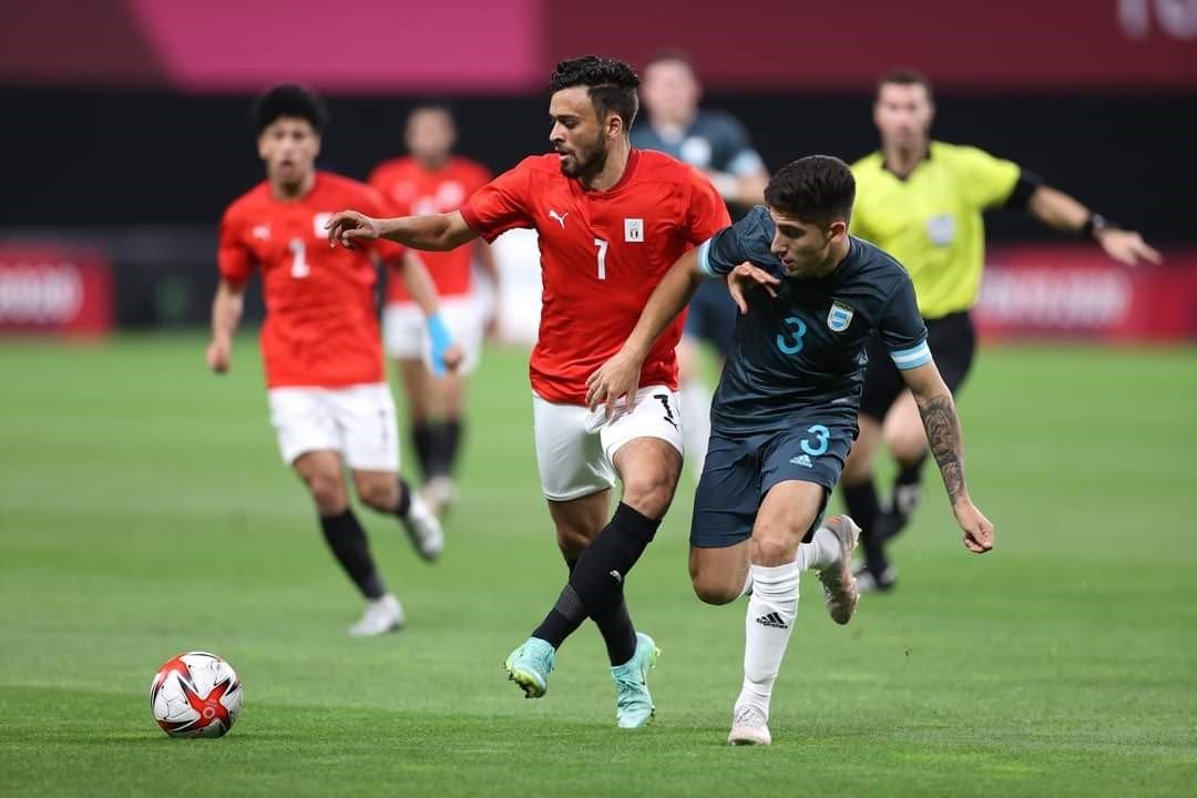 22222 - منتخب مصر الأوليمبي يتلقى أول هزيمة له على يد منتخب الأرجنتين
