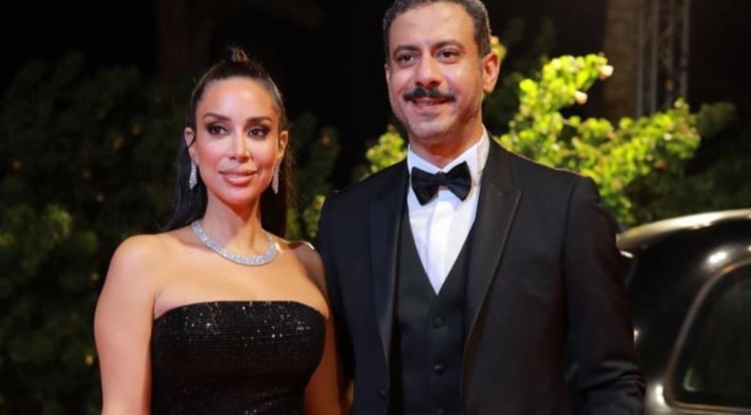 Screenshot ٢٠٢١١٠١٤ ٢٢٤٦٢٤ Instagram - عروسان الوسط الفني محمد فراج وبسنت شوقي يتألقان على ريد كاربت مهرجان الجونة